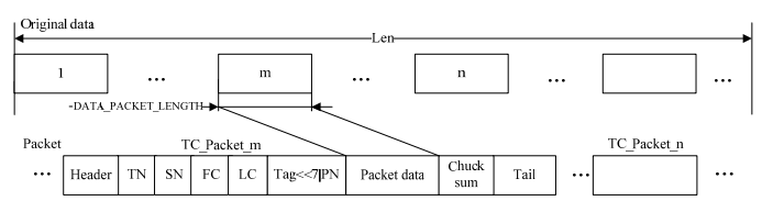 Figure 3. General frame structure of the data transmitted within WSN