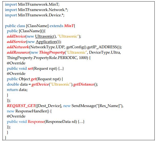 Figure 12. IoT device application development using MinT