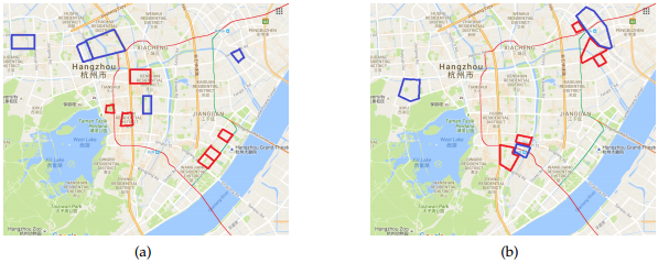 Figure 5. Traffic pattern analysis in Hangzhou
