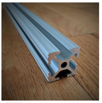 Figure 5: 80/20 1x1 inch extruded aluminum railing