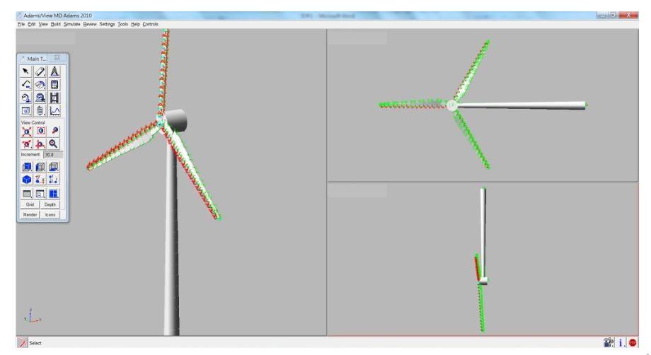 Figure 4. 3D expression of wind turbine outlook