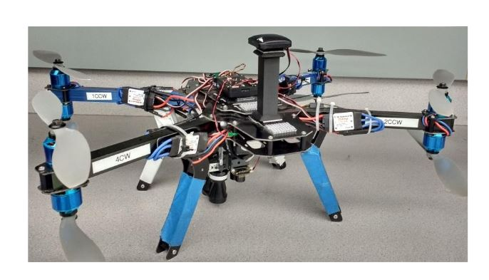 Figure 2 3DR X8 Quadcopter Testbed with instrumentation