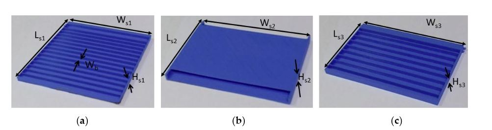Figure 2. (a) 3D-printed PLA dielectric frame for the first antenna element