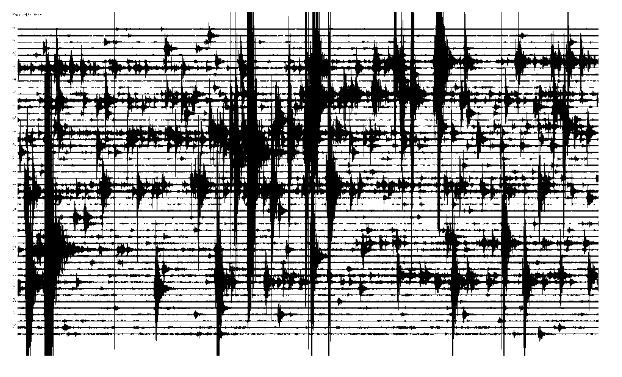Figure 9. Seismic record of 2013/03/29, during the main magma injection process