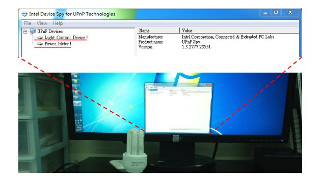 Figure 10. Using Device Spy to find UPnP devices