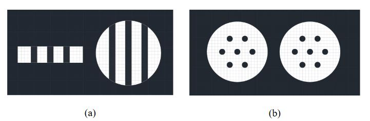 Figure 3-1 (a) A side cutaway view and (b) a top down view of the sphere and disk that make up the joints