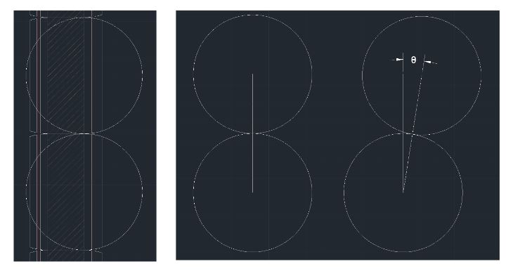 Figure 5-3 Visualizing the joint bend with two circles